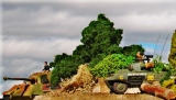 Italeri 1/72 m-8 and Tiger II