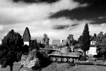 1/72 normandy diorama 077 bw