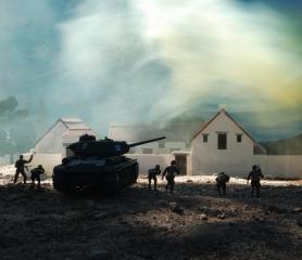 1/72 Russian Village Diorama 133 a