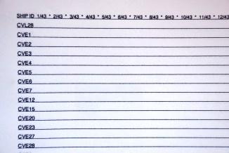 Refit record sheet.