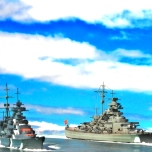 Prinz Eugen and Bismarck.