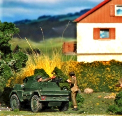 "Dingo scout car from Revell's 1/76 ""Monty's Caravan"""