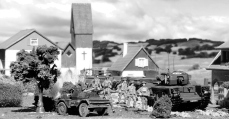 Revell 1/76 Dingo Scout Car and Matchbox 1/76 Churchill AVRE