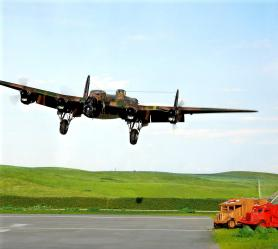 1/72 Avro Lancaster coming in for a landing.